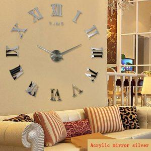 Home Decor Large Roman Mirror Clocks