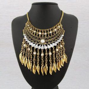 Bohemia Vintage Women Stylish Pretty collar Coins Choker tassel Necklaces