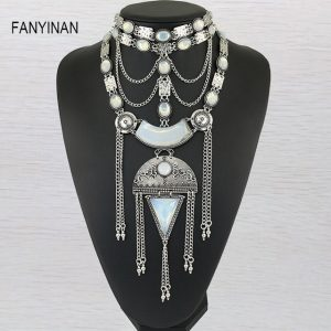 JIANXI Milky white round semi precious stones European style exquisite arrangement jewelry