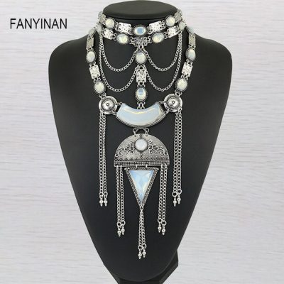 JIANXI Milky white round semi precious stones European style exquisite arrangement jewelry
