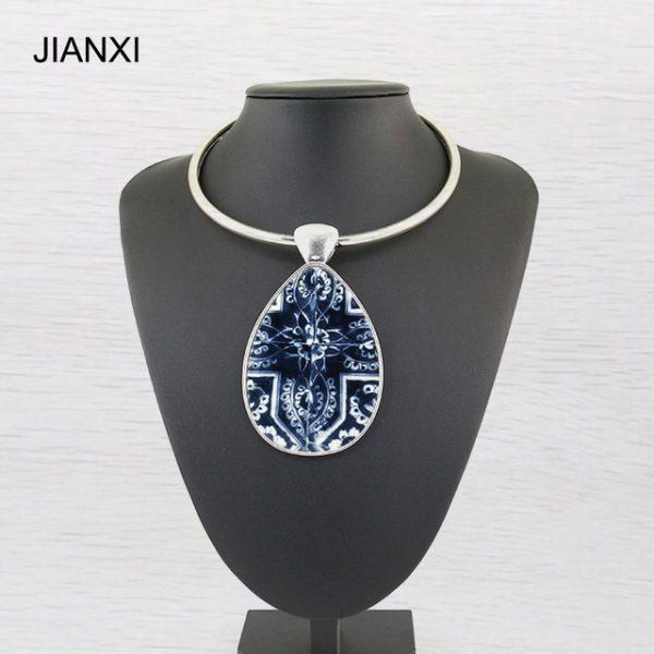 JIANXI wonder woman Maxi Collar Necklace Pendant